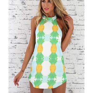 Cute high neck dress